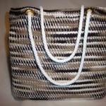 kırçıllı ipten tunus işi örgü el çantası