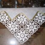 kare motifli oymalı dantel mutfak takımı