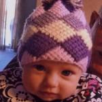 mor tunus işi bebek şapkası