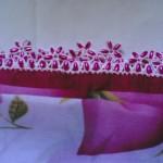 pembe incili çiçekli boncuk oyası