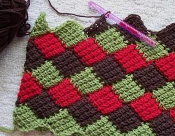 Tunisian Crochet Pattern Maker : Tek ?i?le ?rg? modelleri (Tunus i?i) - Mooda ve Son Trendler