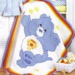 tunus işi mavi ayılı bebek battaniyesi