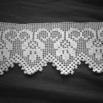 çiçekli çarşaf danteli modeli
