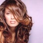 açık kestane uzun dalgalı saç