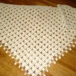 beyaz çiek motifli fıstık işi şal