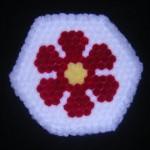 kırmızı çiçekli ponponlu kasnak lif
