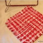 kırmızı beyaz kare kasnak lif modeli