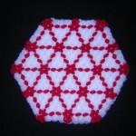 kırmızı beyaz yıldızlı kasnak lif