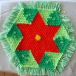 kırmızı yeşil yıldızlı kasnak lif