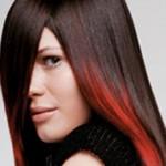 kızıl balyajlı uzun saç modeli