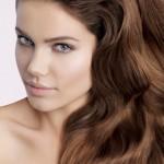 kestane uzun dalgalı saç