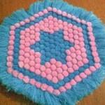 pembe mavi ponponlu yıldızlı kasnak lif