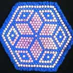 pembe mavi yıldız desenli ponponlu kasnak lif