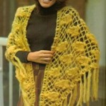 sarı salkımlı fıstıklı şal