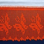 turuncu kelebekli çarşaf danteli