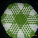yeşil beyaz altıgen kasnak lif