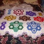 altıgen motifli bebek battaniyesi