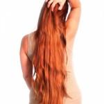 bakır kızılı uzun saç