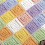 fıstık işi renkli bebek battaniyesi