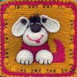 köpek figürlü bebek battaniyesi