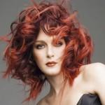 kızıl balyajlı bakır kahve dalgalı saç modeli