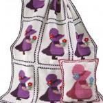 kız desenli bebek battaniyesi