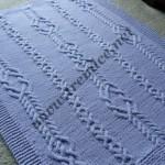 mavi saç örgülü bebek battaniyesi
