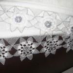 motifli iğne oyası havlu kenarı
