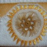 motifli iğne oyası renkli havlu kenarı