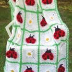 uğur böceği motifli bebek battaniyesi