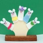 örgü parmak kuklaları