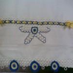halkalı nazar boncuklu havlu kenarı