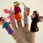 hayvan şekilli örgü parmak kuklaları