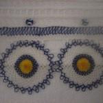 iğne oyası nazar boncuklu havlu kenarı modeli