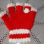 kırmızı beyaz yarım eldiven lif