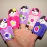 keçeden parmak kuklaları