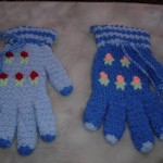 mavi çiçekli eldiven lif