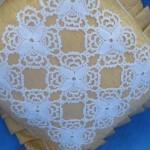 motifli dantel kırlent modeli