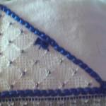 nazar boncuğu ile süslenmiş havlu işlemesi