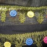 pembe sarı mavi halkalı oya