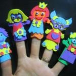 renkli kağıtlardan parmak kuklaları
