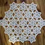 yıldız motifli altıgen sehpa örtüsü