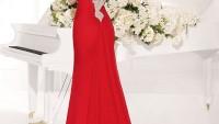 Kırmızı Şık Alımlı Abiye Elbise Trendleri